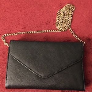 Black Formal Bag with Chain Strap Formal Wear